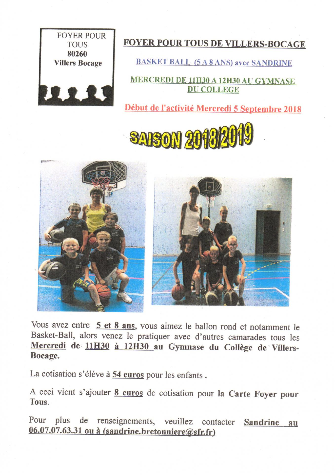 Basket au foyer
