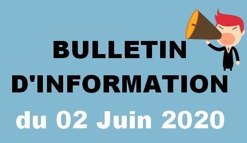 Bulletin d information 02 06 20