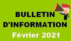 Bulletin d information fevrier 2021