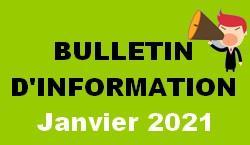 Bulletin d information janvier 2021