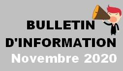 Bulletin d information novembre 2020