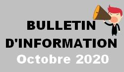Bulletin d information octobre 2020