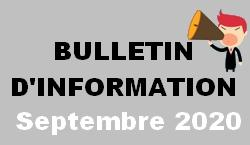 Bulletin d information septembre 2021